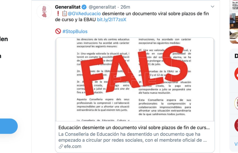 fake news Spanien