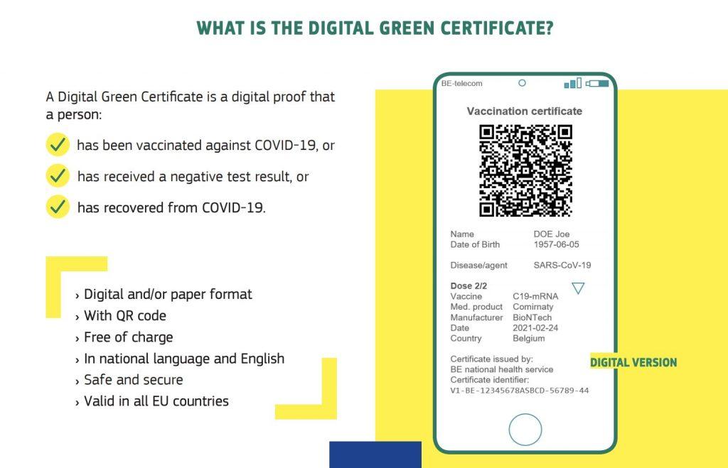 EU inför gemensamt grönt covid-certifikat