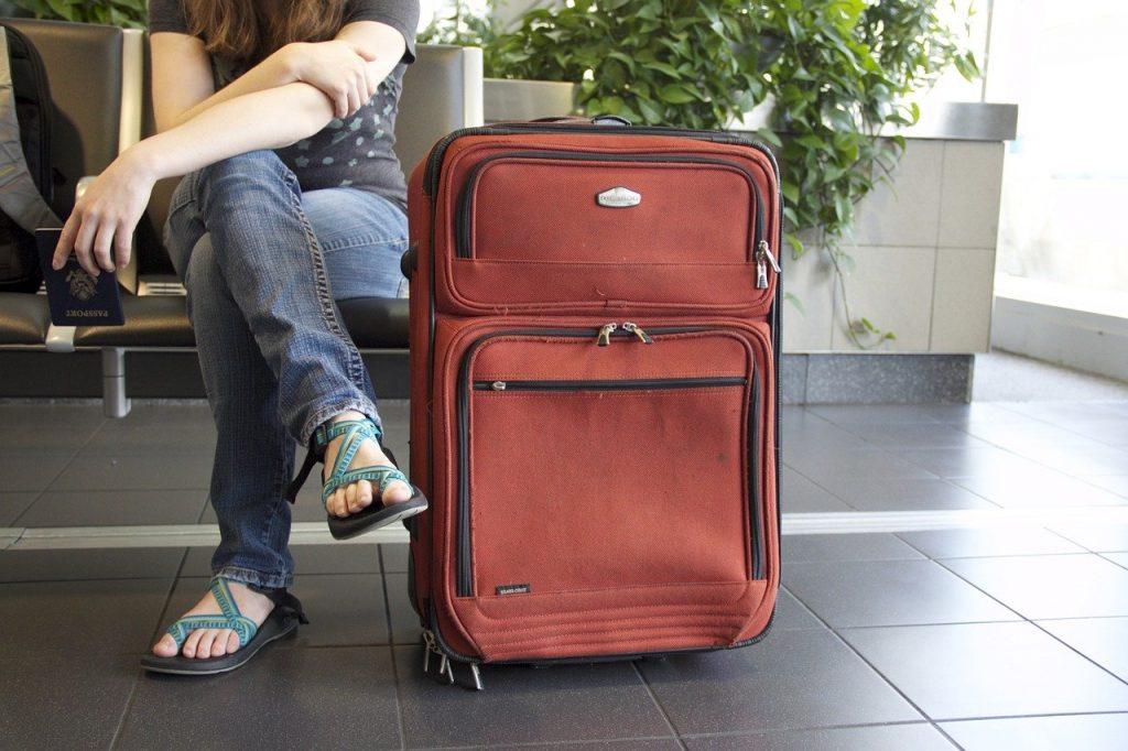 travel, suitcase, airport